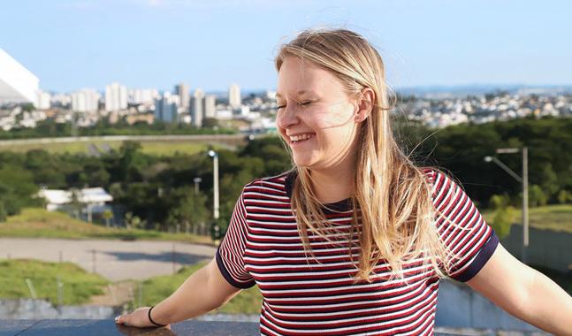 Edith Kortekangas studerar till socialarbetare.