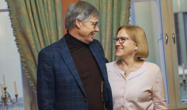 Ulf och Birgitta Ekman besökte Finland förra veckan. –Mina två äldsta syskon är födda i Finland, berättar Birgitta Ekman