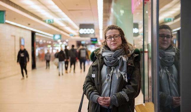 Ida Haapamäki kommer från Kristinestad och jobbar för Marthaförbundet i Helsingfors.