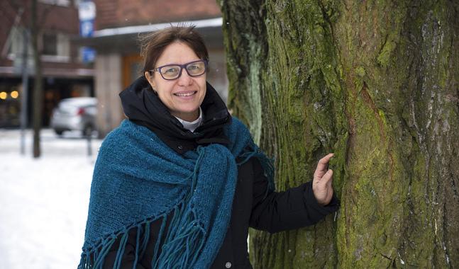Maria Repo-Rostedt säger att en poäng med att träffas och vara tysta tillsammans helt enkelt är att det blir av.