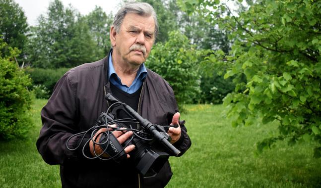 Dagens videoteknik är betydligt enklare att hantera än den 16-millimeters filmkamera som Jan-Erik Widjeskog började sin filmarkarriär med.