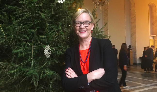 Eva Biaudet önskar sig stöd för de mänskliga rättigheterna i julklapp.