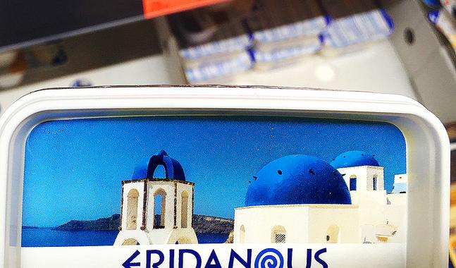 Så här ser de grekiska kyrkorna ut i Lidls tappning.