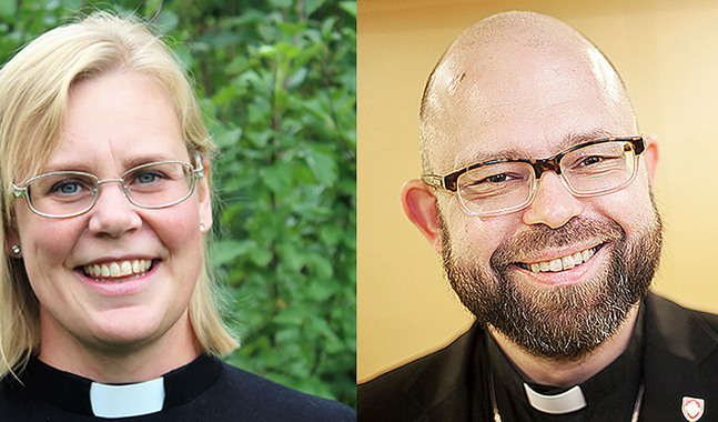 Camilla Ekholm och Karl af Hällström har sökt kyrkoherdetjänsten i Sibbo.