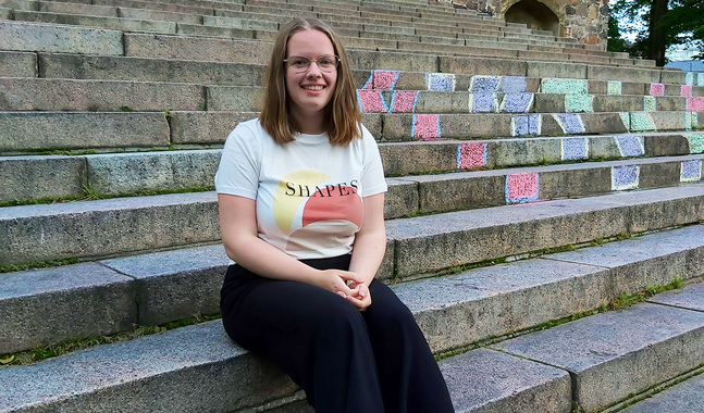 Erica Långström ser fram emot att upptäcka Åbo, få nya kompisar och lyssna till lärare som är experter på sitt område.