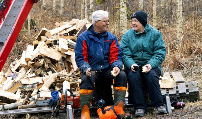 Gösta Steffansson och Ann-Britt Gustafsson kände ett samförstånd direkt, och gillar samma fritidssysselsättning.