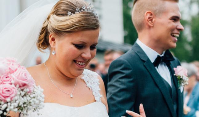 Hanna-Madeleine och Ludvig Andersson f�rberedde sig f�r sitt br�llop genom att g� en �ktenskapskurs. L�s hela intervjun i Kyrkpressens Br�llopsbilaga!