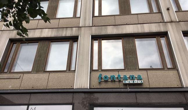 Kyrkpressen och Fontana Media har haft sina utrymmen på sjunde våningen på Sandvikskajen 13 i Helsingfors.