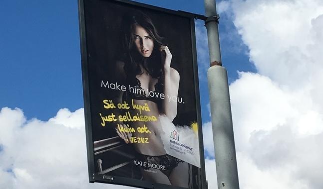 Reklamkampanjen syns i Åbo från och med den här veckan.