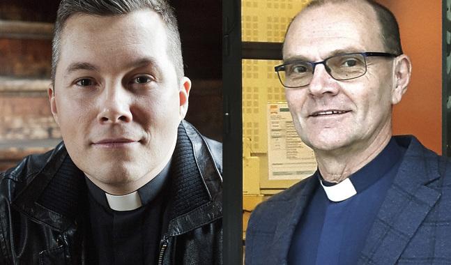 Petrus församlings kyrkoherde Daniel Björk och Pedersöre församlings kyrkoherde Kaj Granlund har båda varit tvungna att pausa mycket av verksamheten i sina församlingar.