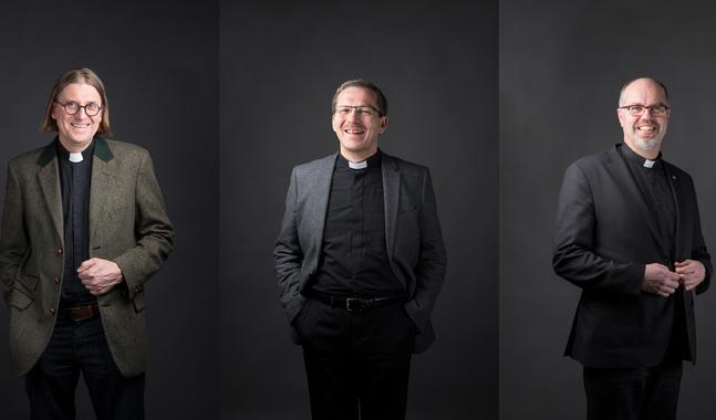 Jukka Hautala, Jukka Keskitalo och Niilo Pesonen är kandidater till biskopsämbetet i Finlands nordligaste stift.