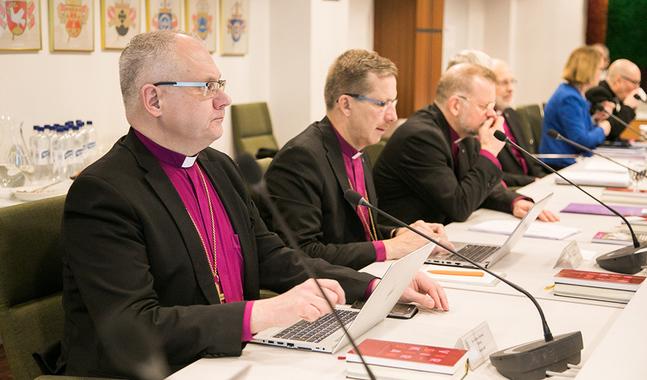 Biskop Bo-Göran Åstrand säger att det var en process för biskoparna att finna förtroendet att tala ärligt och öppet i äktenskapsfrågan.