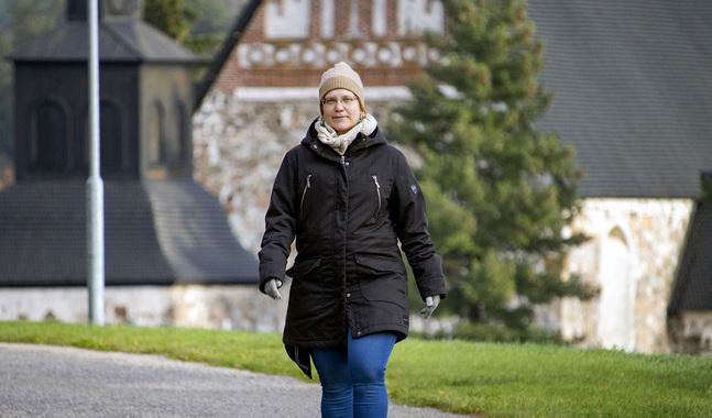 Sara George är glad att den fria bönen gjort deltagarna mindre rädda att uttrycka sig inför varandra.