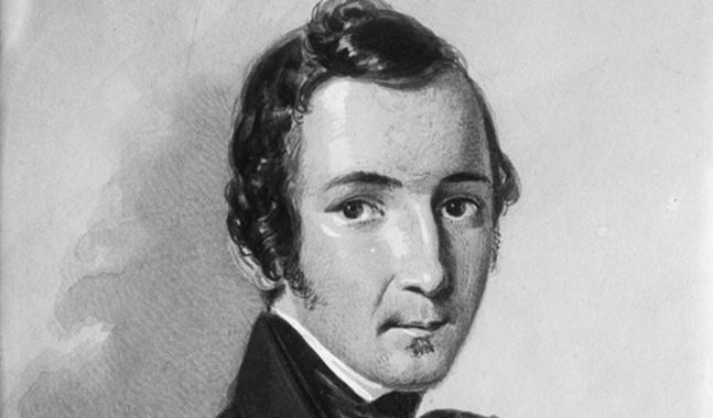 Zacharias Topelius avporträtterades av F. Kaschenreuter år 1845, då han var 27 år.