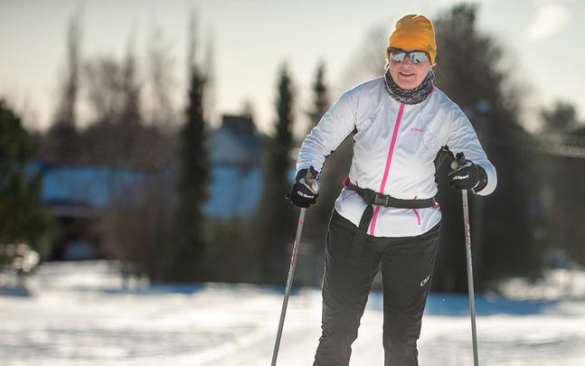 Coronan satta stopp för Catharina Englunds medverkan i Vasaloppet. Det blev nittio kilometer i Fäbodaskogen i stället.