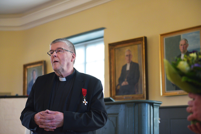 Berndt Bergs förtjänstfulla arbete som kyrkoherde och kontraktsprost uppmärksammades när han i början av året fick ta emot Riddartecknet av I klass av Finlands Lejons Orden.