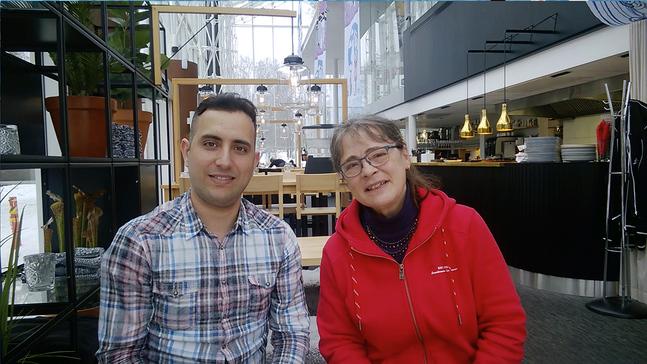 Samer Saad och Marianne Sundroos vill samla in medel för flyktingar med en konsert.