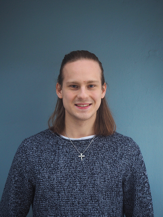 Kristian Vuoristo är civiltjänstgörare i Petrus församling.