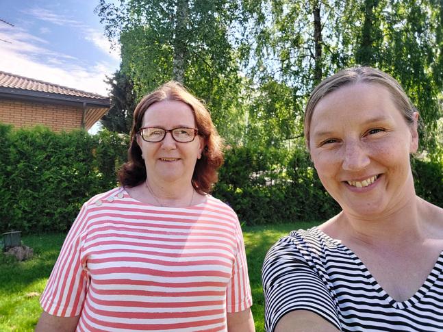 Ann-Christine Teir och Heidi Salminen har planerat kursen i vardagseknomi.