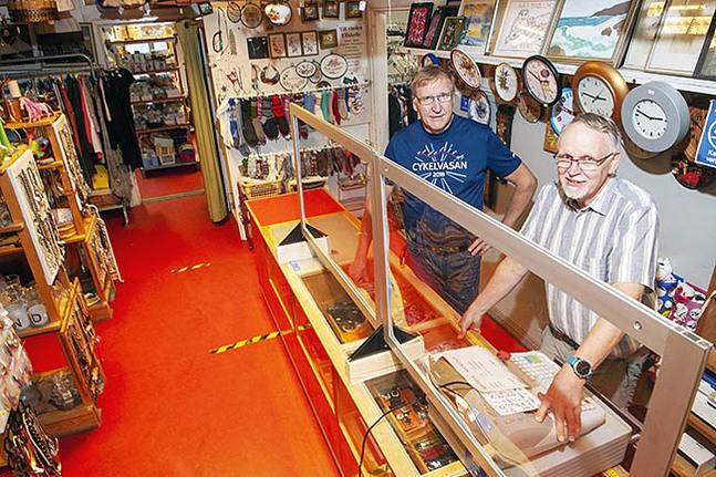 Christian Dahlin och Johan Österholm är både nyblivna pensionärer och engagerade i Missionsstugans verksamhet.