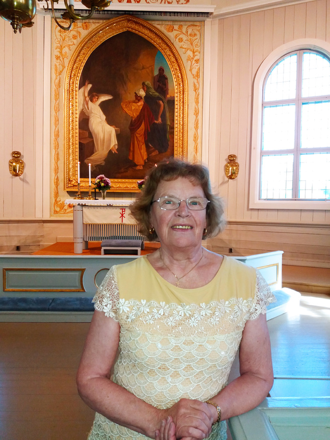 Estrid Hjorth skulle ha velat krama om alla människor som samlades i kyrkan.