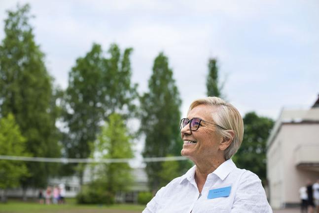 Rigmor Holst undervisade om bön under Kyrkans Ungdoms familjeläger i Pieksämäki. – Jag tror att vi måste vara raka och öppna om våra svårigheter och be mycket för varandra.
