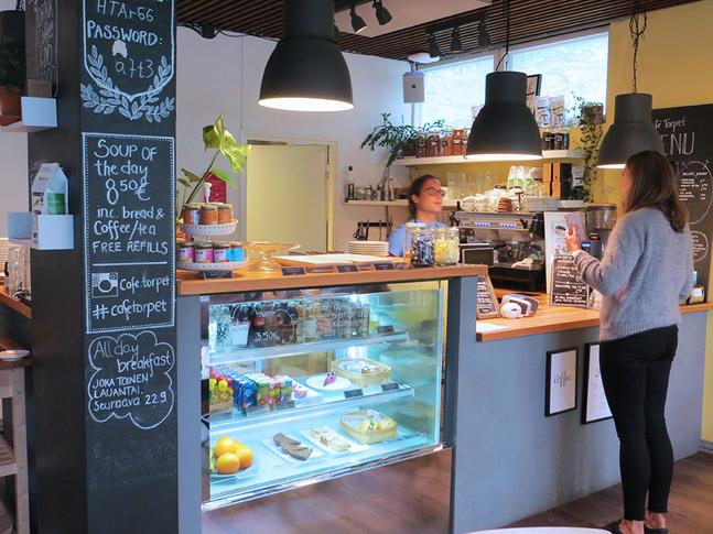 På Café Torpet ordnas bland annat många av Petrus församlings kurser.