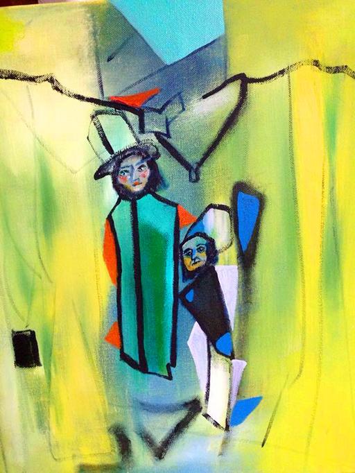 Genom utställningen vill Barbara Savolainen stöda kyrkans arbete för invandrare och deras välmående.