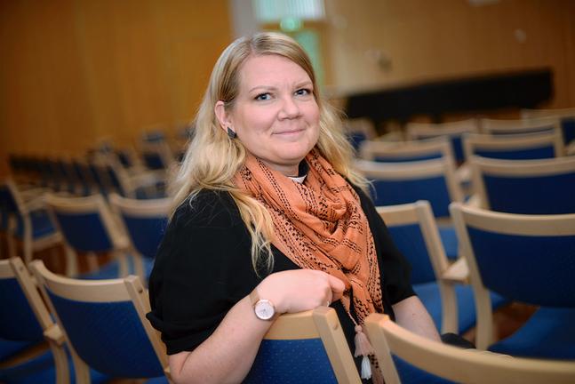 Mari Puska ser fram emot helgens kyrkodagar i Mariehamn. – Jag tror att behovet av det här är stort.