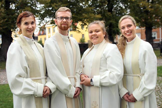 Sini Aschan, Jakob Edman, Laura Serell och Elefteria Apostolidou.