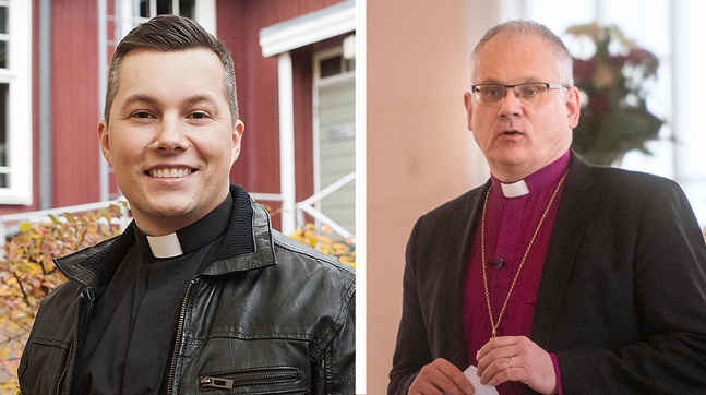Daniel Björk är liturg i gudstjänsten och Bo-Göran Åstrand predikar.