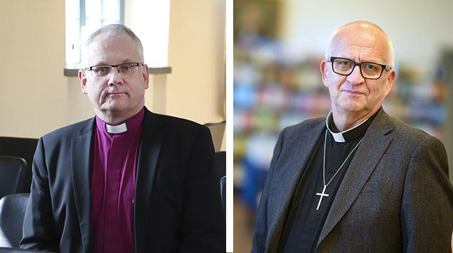Biskop Bo-Göran Åstrand och kyrkoherde Harry S. Backström är oeniga om kommunikationen kring spänningarna i Väståboland.