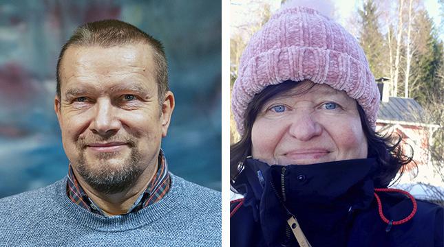 Författaren Sabine Forsblom och journalisten Jan-Erik Andelin bidrar till att det också i år går att ta del av Via Crucis.