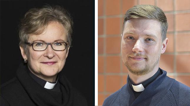 Monica Cleve är kaplan i Ekenäs, Kristian Willis är församlingspastor i Helsingfors.