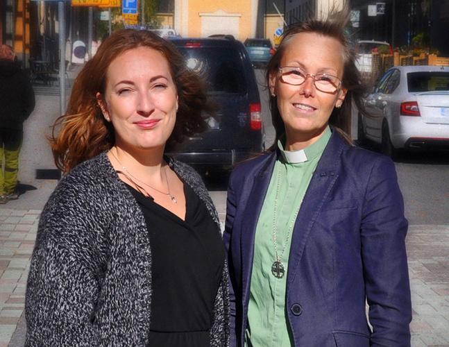 Sara Löfs-Snellman och Gerd Erickson tros med att jobba i team.