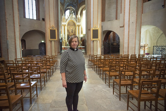 Mia Bäck är kyrkoherde i Åbo svenska församling.