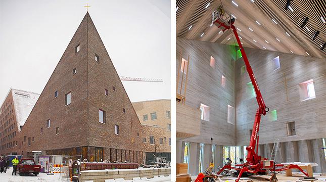 I början av januari pågick den sista finslipningen av nya kyrkan i Dickursby.