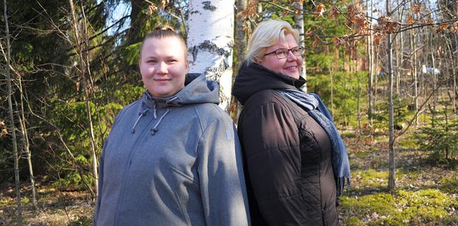 Ditte Sandholm och Marlen Talus träffades regelbundet och ringde otaliga samtal när Ditte mådde dåligt.