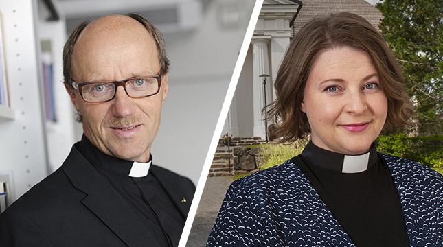 Sixten Ekstrand och Mia Anderssén-Löf debatterar för- och nackdelarna med direkt val av kyrkoherde.