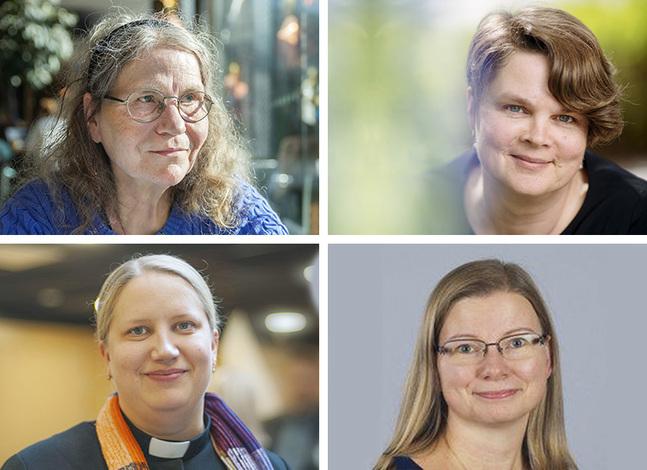 Sheila Liljeberg-Elgert, Urpu Sarlin, Kira Ertman och Jannika Lassus.