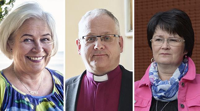 Virva Nyback, Bo-Göran Åstrand och Ann-Christine Wiik bekräftar att digitala anteckningar inte förs inom kyrkans själavård och arbetshandledning.