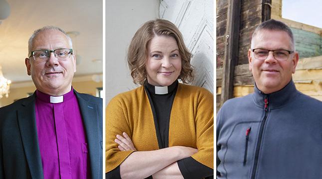 Bo-Göran Åstrand, Mia Anderssén-Löf och Krister Mård träffades i söndags.