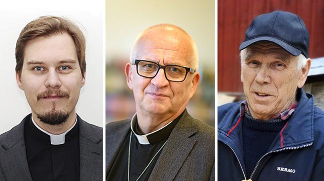 Linus Stråhlman, Harry S. Backström och Rune Johansson ser kaplansvalet från olika håll.