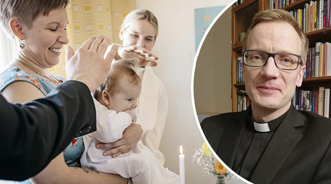 Ronny Thylin har döpt ovanligt få barn den senaste tiden på grund av pandemin.