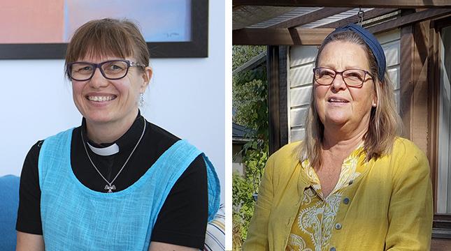 Maria Repo-Rostedt leder Stillhetens yoga i Johannes församling och Anne Sundqvist deltog i våras.