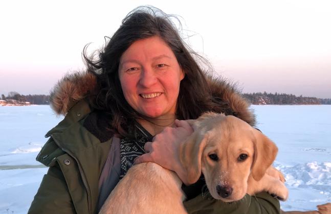 Irene Erkko studerar för att bli vildmarksguide – som motvikt till prästjobbet.