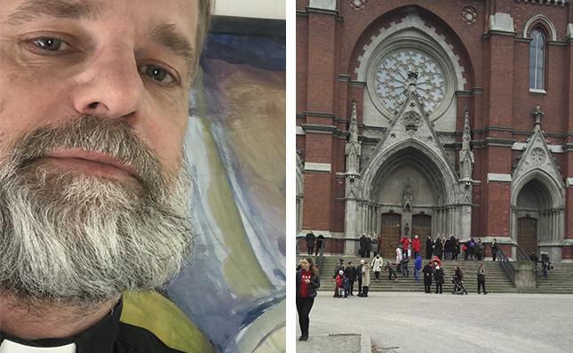 I juni öppnar Johanneskyrkan för gudstjänstbesökare, men Johan Westerlund rakar sig först när kyrkan får packas riktigt full.