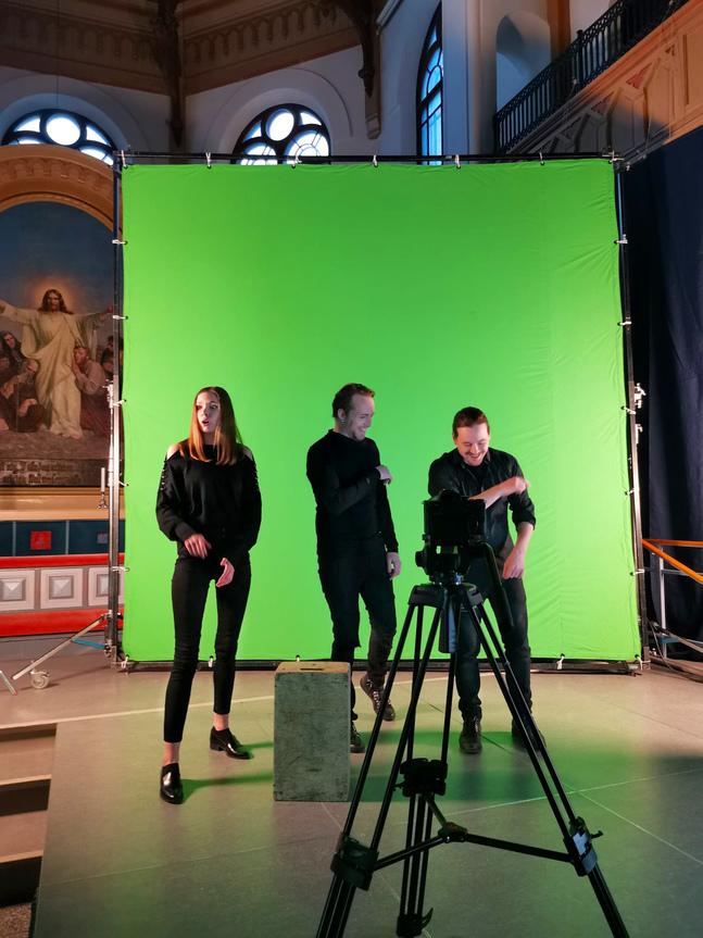 Alexandra Gustavsson, Johan Aspelin och Christer Romberg.