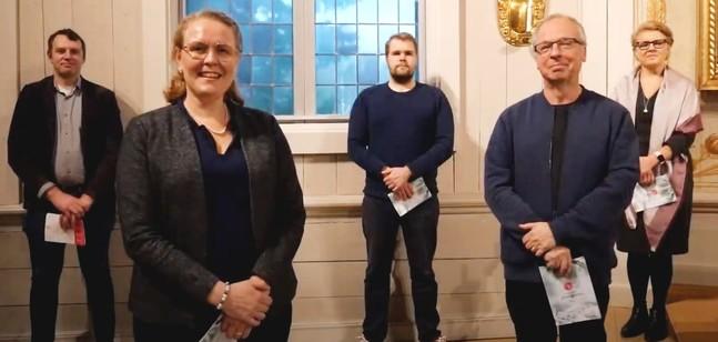 Kantorerna i församlingarna i Korsholm: Michael Wargh, Jimi Järvinen, Susanne Westerlund, Ann-Christin Nordqvist-Källström och Rodney Andrén.