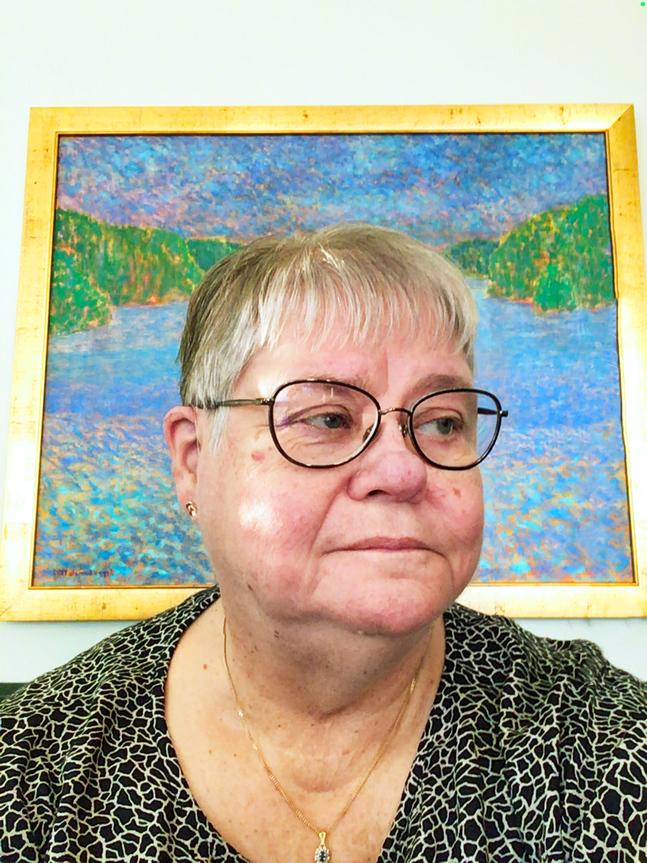 Kerstin Kronqvist har inte ångrat sitt beslut att flytta. – Det är nådigare att bli gammal i Mariehamn, säger hon.